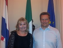 Croatian Ambassador to Irleland her excellency Ms Jasna Ognjanovac and Ivan Stojanovic - Irish Recruiter
