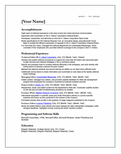 IrishRecruiter CV Template Download